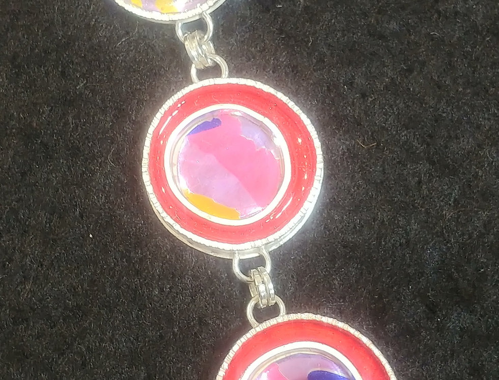 Upcycled Aluminum Can & Resin Pendant