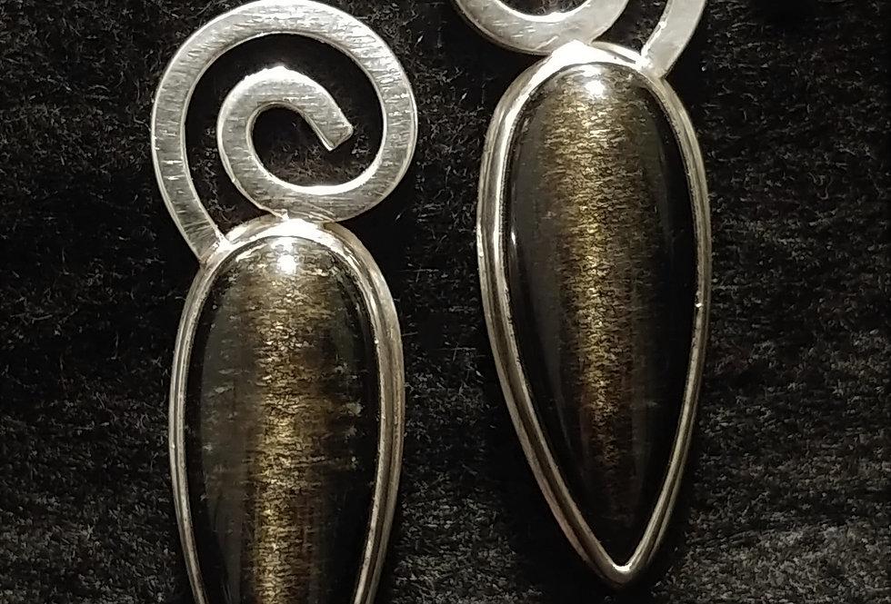 Golden Obsidian & Swirls