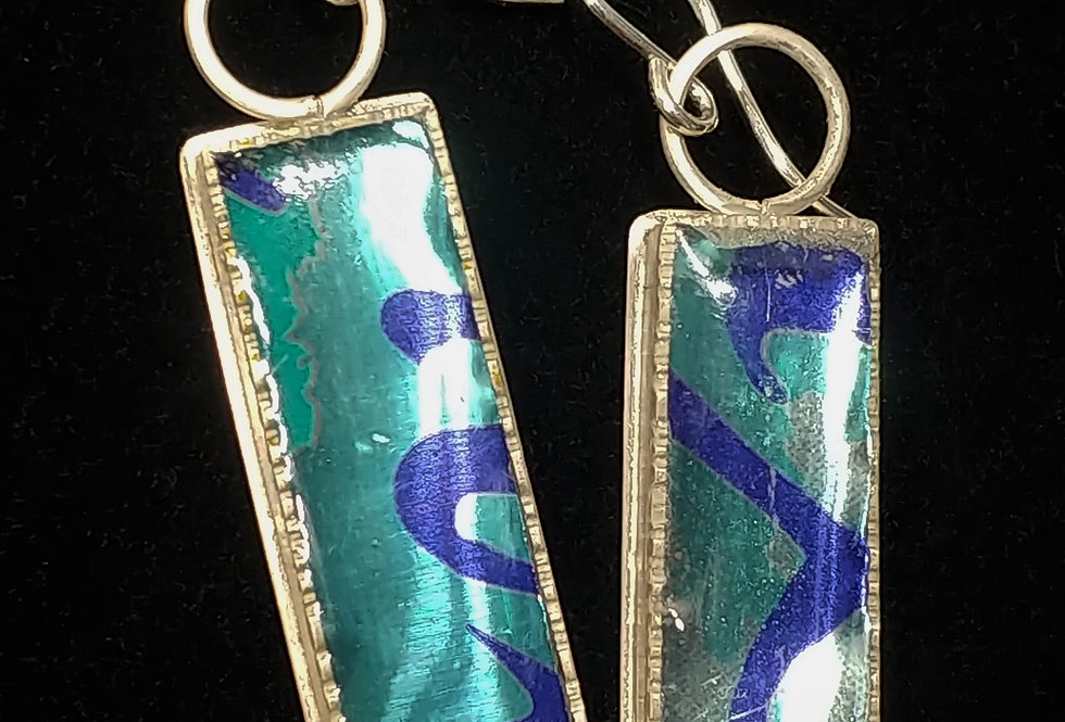 Upcycled Aluminum Can & Resin Earrings