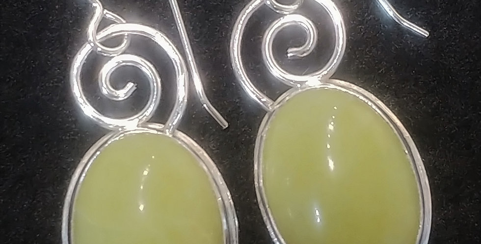Olive Jade Dangles
