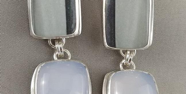 Blue Opal & Blue Chalcedony