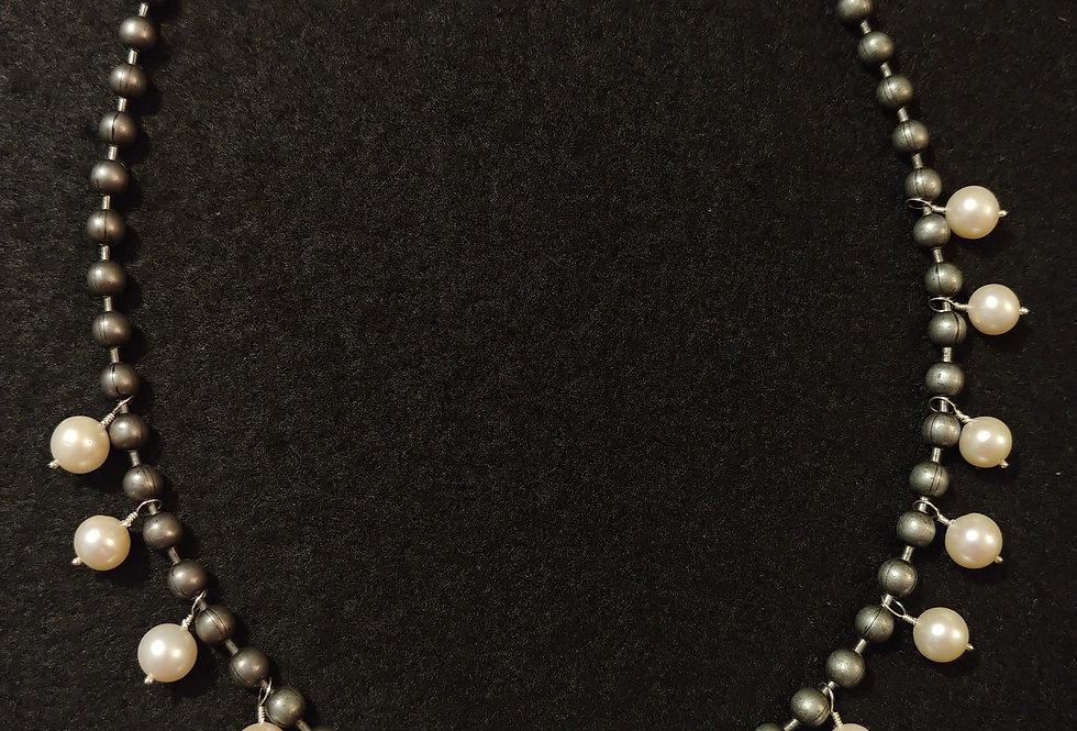 Gunmetal & Pearls
