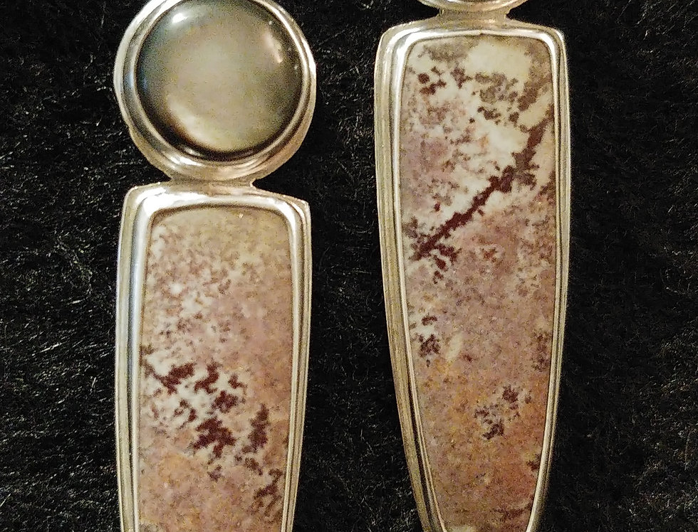 Dendritic Jasper & Mother- of-pearl II