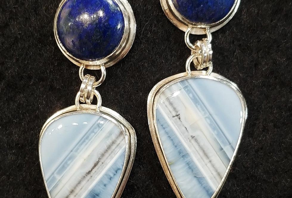 Lapis & Blue Opal Earrings