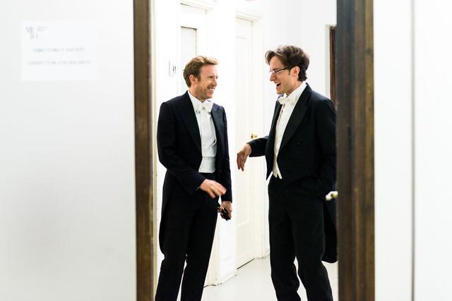 Daniel Harding con Alessandro Taverna