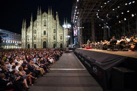 Filarmonica della Scala in piazza Duomo