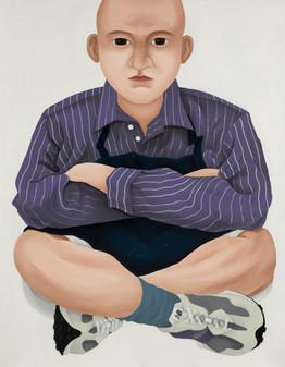 Cross-legged_3 (acrylic on canvas 50F, 91x117cm).JPG
