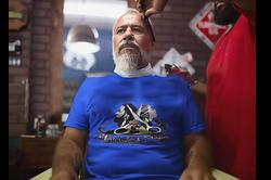 Goddess Lynx Shop Promo in barber Chair.