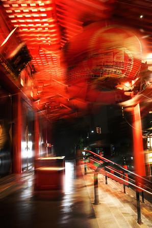 台風浅草寺