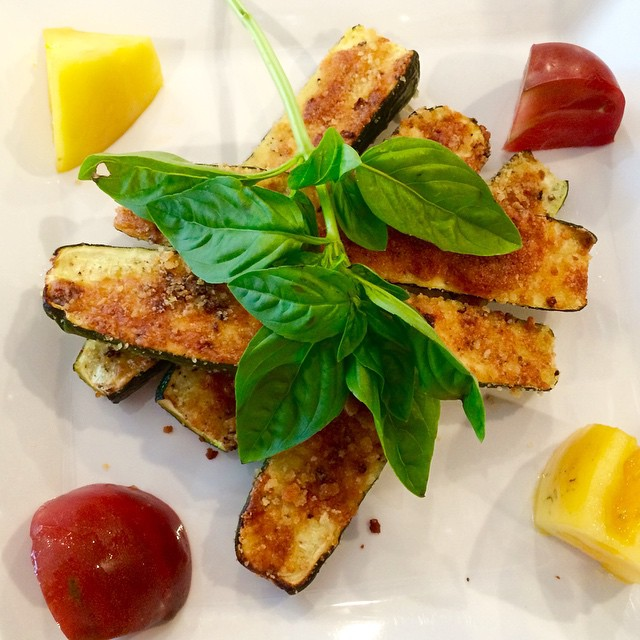 Roasted Zucchini Halves