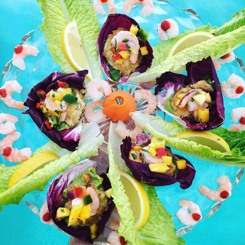 Mango and Shrimp Ceviche Cups