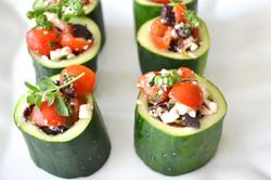 Greek Salad Stuffed in Cucumber