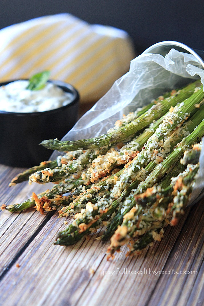Parmesan and Parsley Crusted Asparagus Fries