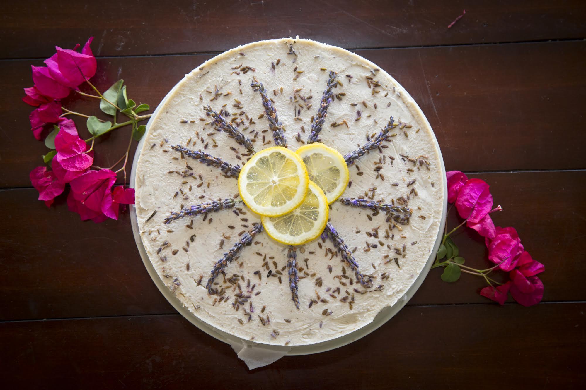 lavender lemon cheescake
