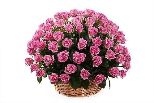 Розовые розы (101 шт.)