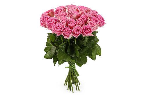 Розовые розы (25 шт.)