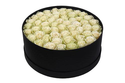 Белые розы (51 шт.)