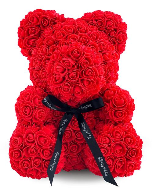 Красный мишка из роз (40 см)