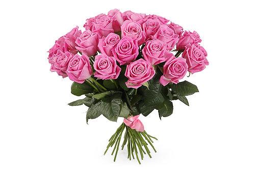 Розовые розы (35 шт.)