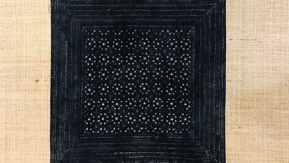 Black Hmong Handcrafted pillow cases - Hemp