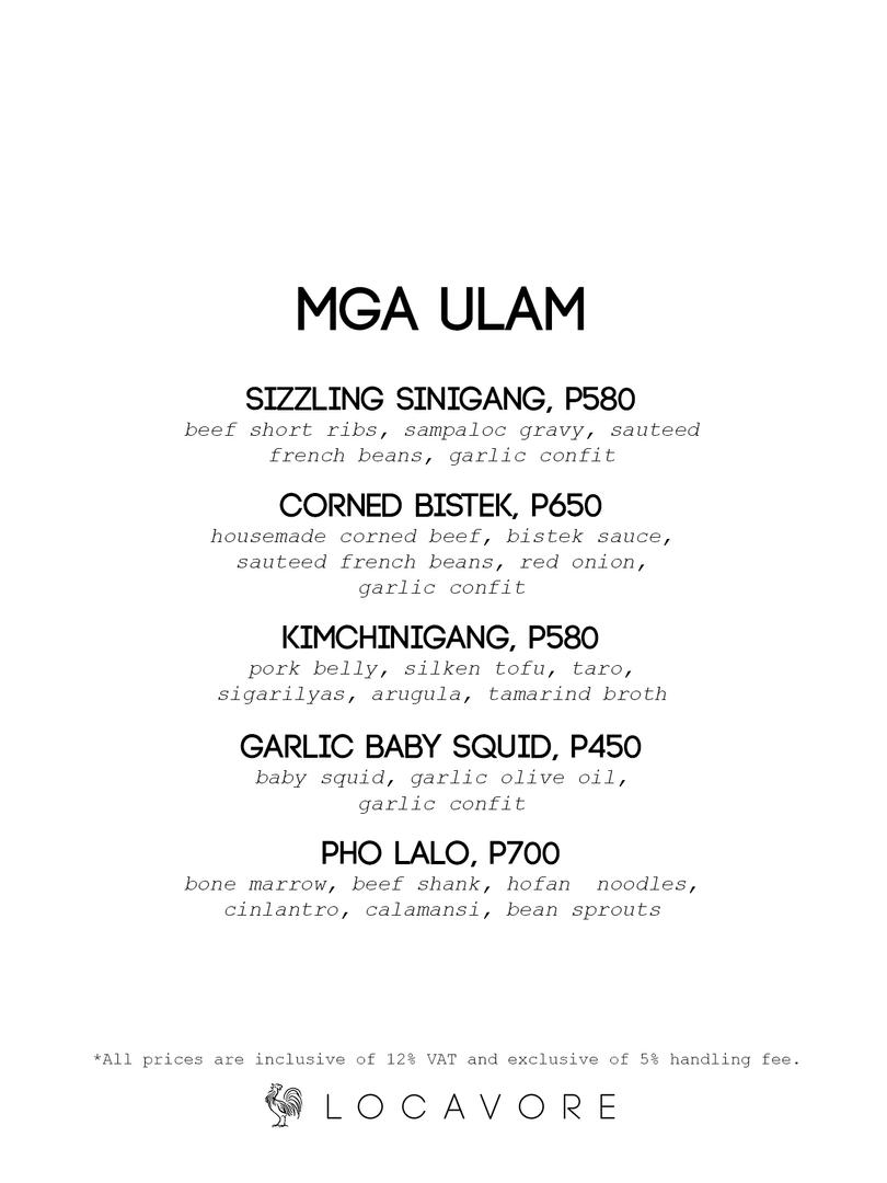 Mga Ulam (pt. 1)