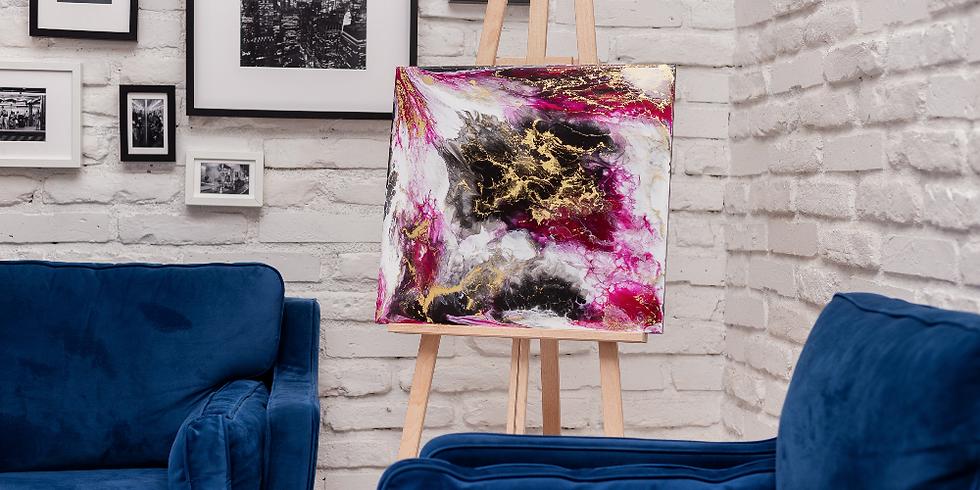 Újdonság - Pour art falikép készítő workshop művészgyantával