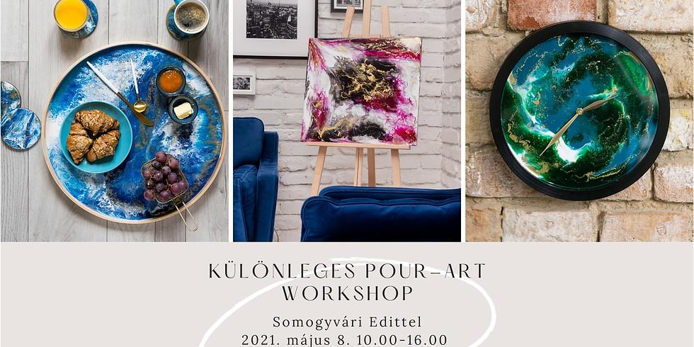 Különleges Pour-Art Workshop - Somogyvári Edittel