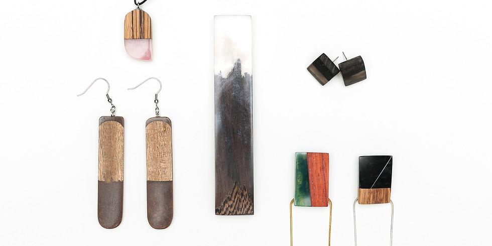 DESIGN HÉT BUDAPEST Bevezetés a művészgyanták világába - fával kombinált ékszerkészítő tanfolyam