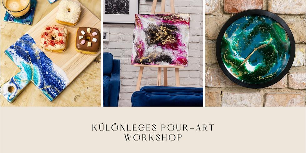 Pour- art workshop - szabadon választott tárggyal
