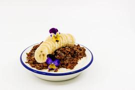 Yoghurt & Banana Tin, Cacao & Almond Granola + Honey