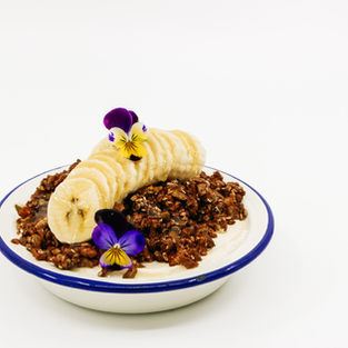Yoghurt & Banana Tin, Cacao & Almond Granola + Honey