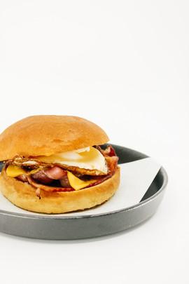 Egg & Bacon Burger (Add Hashbrown)