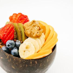 Morning bowl / Original Coco Whip, Our Crunchy Cacao & Almond Granola, Fresh Fruits & Maple Syrup