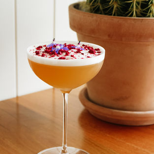 French Martini / Vodka, Raspberry Liqueur, Fresh Pineapple Juice, pomegranate
