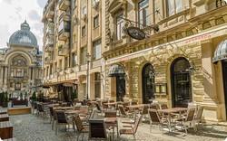 Rue pietonne de Bucarest