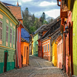 Rues colorées à Sighisoara