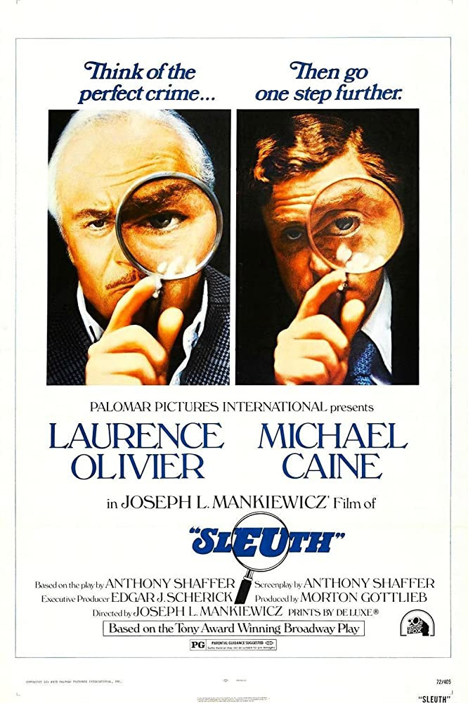 recenzie film Sleuth, Laurence Olivier, Michael Caine