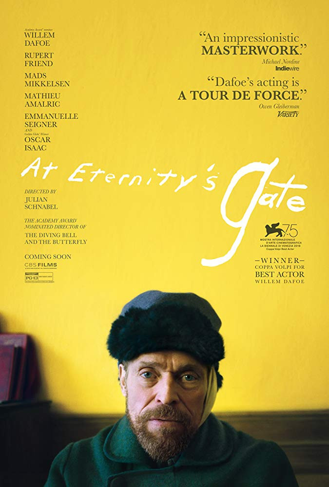 cronica de film At Eternity's Gate, Willem Dafoe