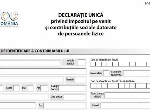 Termenul limită de depunere a Declaraţiei Unice este 31.07.2019!
