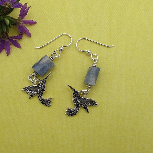 Handmade sterling silver earrings.