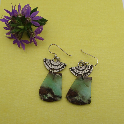 Sterling silver and stone earrings.