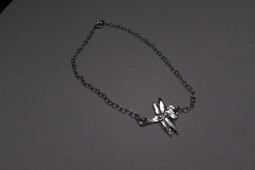 Handcrafted sterling silver ankle bracelet.