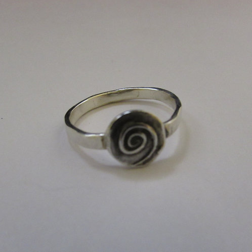 Handcrafted sterling silver ring.