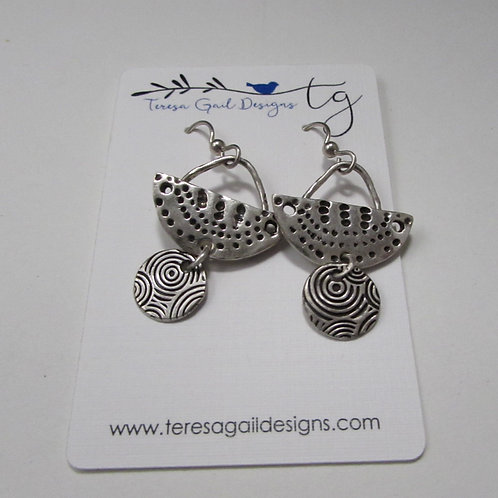 Handcrafted sterling silver earrings.