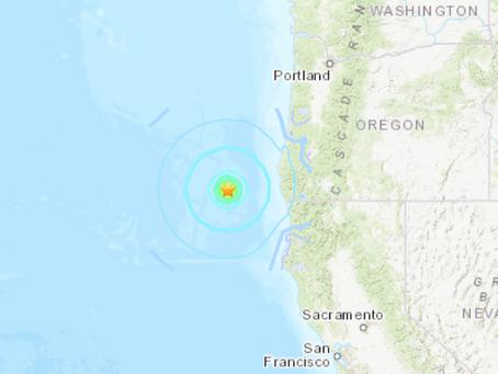 No tsunami threat after earthquake off the coast of Oregon