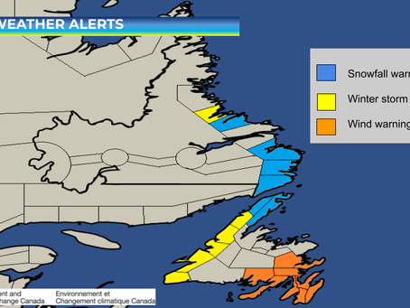 Winter Storm Sets Sights on Western Newfoundland & Parts of Labrador #nlwx