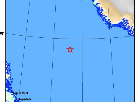 Earthquake off the coast of Labrador
