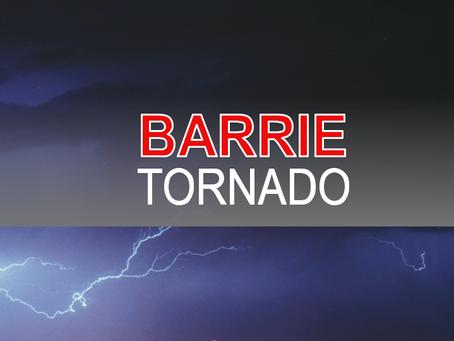 Tornado damage in Barrie #ONstorm