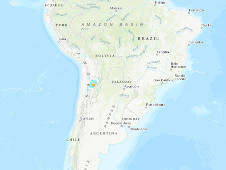 6.1 Magnitude Earthquake in Argentina