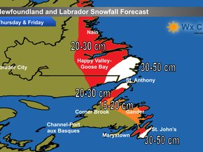 Heavy Snow Expected Across Much of NL #nlwx
